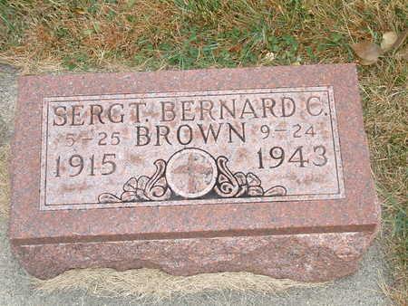 BROWN, BERNARD C - Shelby County, Iowa   BERNARD C BROWN