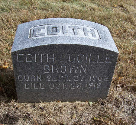 BROWN, EDITH LUCILLE - Shelby County, Iowa   EDITH LUCILLE BROWN