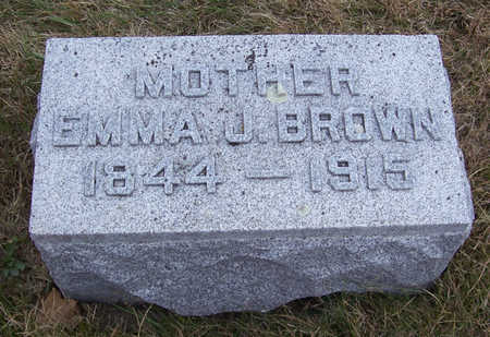 BROWN, EMMA J. (MOTHER) - Shelby County, Iowa   EMMA J. (MOTHER) BROWN