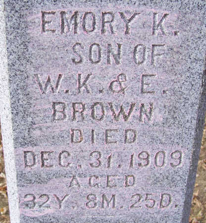 BROWN, EMORY K. - Shelby County, Iowa | EMORY K. BROWN