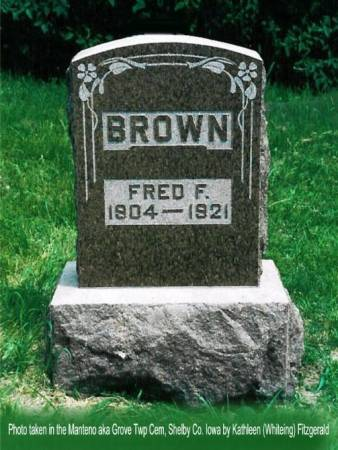 BROWN, FRED F. - Shelby County, Iowa | FRED F. BROWN