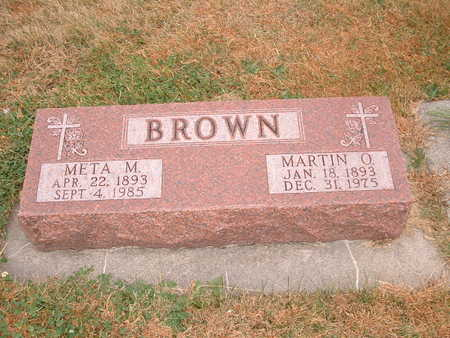 BROWN, META M - Shelby County, Iowa | META M BROWN
