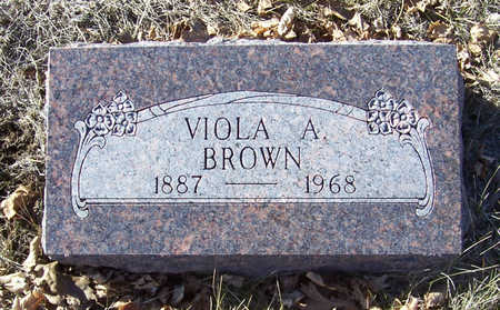 BROWN, VIOLA A. - Shelby County, Iowa   VIOLA A. BROWN