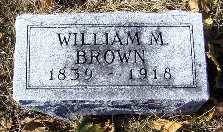 BROWN, WILLIAM M. - Shelby County, Iowa | WILLIAM M. BROWN