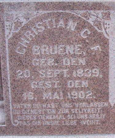 BRUENE, CHRISTIAN C. F. (CLOSE-UP) - Shelby County, Iowa | CHRISTIAN C. F. (CLOSE-UP) BRUENE