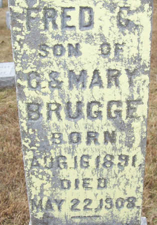 BRUGGE, FRED C. (CLOSE-UP) - Shelby County, Iowa   FRED C. (CLOSE-UP) BRUGGE