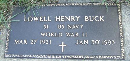 BUCK, LOWELL HENRY - Shelby County, Iowa   LOWELL HENRY BUCK