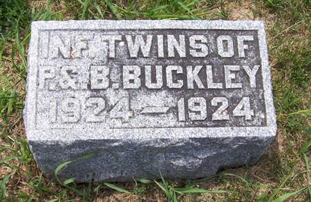 BUCKLEY, INFANT (TWIN) - Shelby County, Iowa | INFANT (TWIN) BUCKLEY