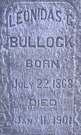 BULLOCK, LEONIDAS G. (CLOSE-UP) - Shelby County, Iowa | LEONIDAS G. (CLOSE-UP) BULLOCK
