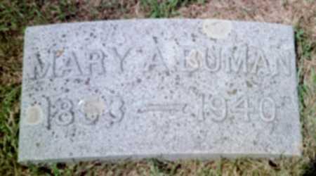 BUTCHER BUMAN, MARY A. - Shelby County, Iowa | MARY A. BUTCHER BUMAN