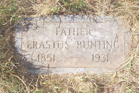 BUNTING, ERASTUS (FATHER) - Shelby County, Iowa   ERASTUS (FATHER) BUNTING