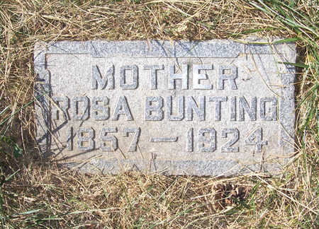 BUNTING, ROSA (MOTHER) - Shelby County, Iowa   ROSA (MOTHER) BUNTING