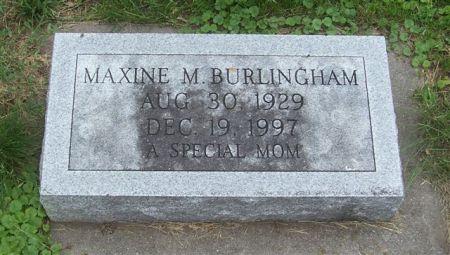 BURLINGHAM, MAXINE M. - Shelby County, Iowa | MAXINE M. BURLINGHAM