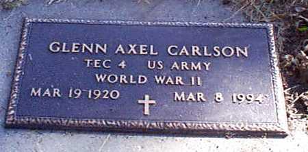 CARLSON, GLENN AXEL - Shelby County, Iowa   GLENN AXEL CARLSON
