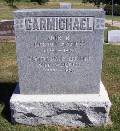 GRIFFITH CARMICHAEL, PLATTIE MARIE - Shelby County, Iowa | PLATTIE MARIE GRIFFITH CARMICHAEL