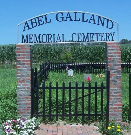 ABEL GALLAND MEMORIAL, CEMETERY - Shelby County, Iowa   CEMETERY ABEL GALLAND MEMORIAL