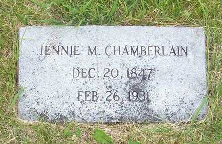 CHAMBERLAIN, JENNIE M. - Shelby County, Iowa   JENNIE M. CHAMBERLAIN