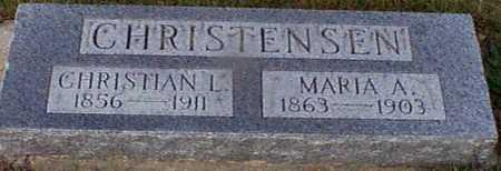 CHRISTENSEN, MARIA A - Shelby County, Iowa   MARIA A CHRISTENSEN