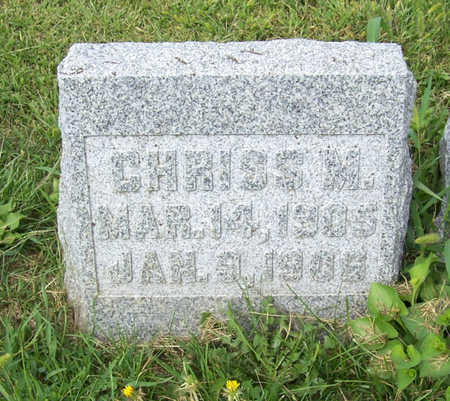 CHRISTENSEN, CHRISS M. - Shelby County, Iowa | CHRISS M. CHRISTENSEN