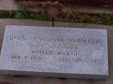 CHRISTENSEN, LYLE LEVI - Shelby County, Iowa   LYLE LEVI CHRISTENSEN