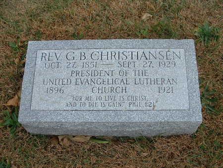 CHRISTIANSEN,  G B  REV - Shelby County, Iowa    G B  REV CHRISTIANSEN
