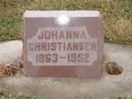 CHRISTIANSEN, JOHANNA - Shelby County, Iowa | JOHANNA CHRISTIANSEN
