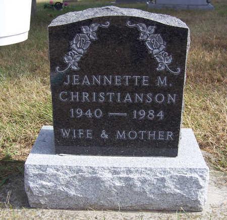 CHRISTIANSON, JEANNETTE M. - Shelby County, Iowa | JEANNETTE M. CHRISTIANSON