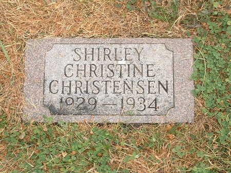 CHRISTENSEN, SHIRLEY CHRISTINE - Shelby County, Iowa | SHIRLEY CHRISTINE CHRISTENSEN