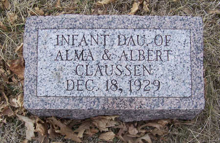 CLAUSSEN, INFANT DAUGHTER (2) - Shelby County, Iowa | INFANT DAUGHTER (2) CLAUSSEN