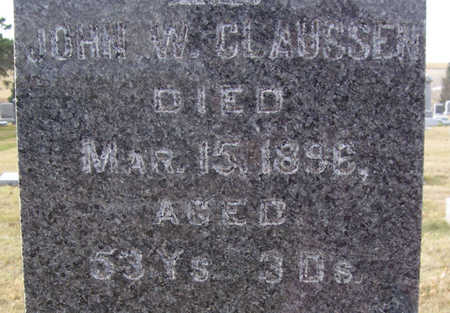 CLAUSSEN, JOHN W. (CLOSE-UP) - Shelby County, Iowa | JOHN W. (CLOSE-UP) CLAUSSEN