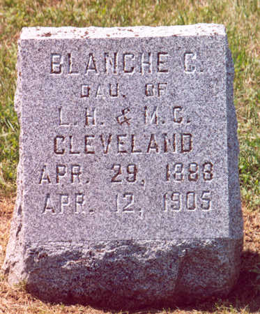 CLEVELAND, BLANCHE C. - Shelby County, Iowa | BLANCHE C. CLEVELAND