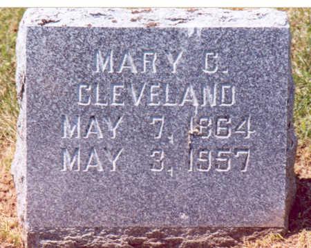CLEVELAND, MARY C. - Shelby County, Iowa   MARY C. CLEVELAND