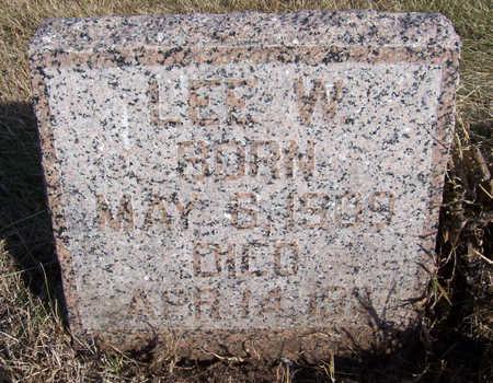 COKER, LEE W. - Shelby County, Iowa   LEE W. COKER