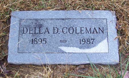 COLEMAN, DELLA D. - Shelby County, Iowa   DELLA D. COLEMAN
