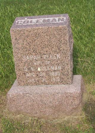 COLEMAN, SARAH ELLEN - Shelby County, Iowa | SARAH ELLEN COLEMAN