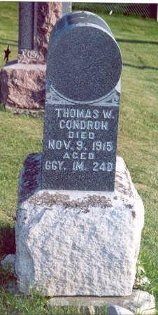 CONDRON, THOMAS W. - Shelby County, Iowa   THOMAS W. CONDRON