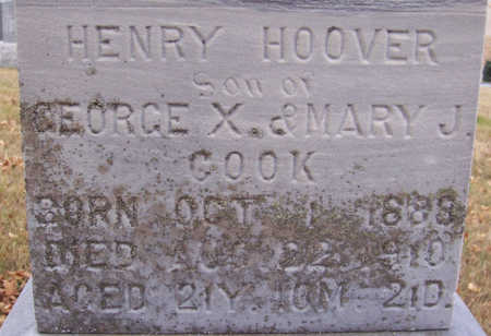 COOK, HENRY HOOVER (CLOSE-UP) - Shelby County, Iowa | HENRY HOOVER (CLOSE-UP) COOK