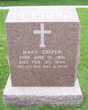 COOPER, MARY - Shelby County, Iowa | MARY COOPER
