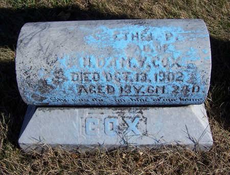 COX, ETHEL P. - Shelby County, Iowa | ETHEL P. COX