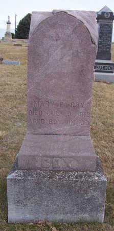 COX, MARY E. - Shelby County, Iowa | MARY E. COX