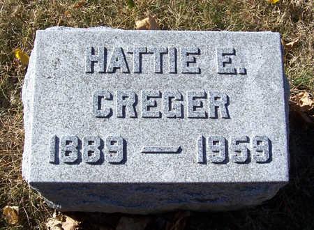COLLINS CREGER, HATTIE E. - Shelby County, Iowa | HATTIE E. COLLINS CREGER