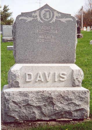 DAVIS (FAMILY STONE), JOHN & CAROLINE - Shelby County, Iowa | JOHN & CAROLINE DAVIS (FAMILY STONE)