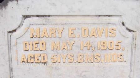 DAVIS, MARY E. (CLOSE-UP) - Shelby County, Iowa | MARY E. (CLOSE-UP) DAVIS