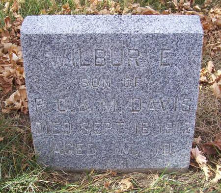 DAVIS, WILBUR E. - Shelby County, Iowa   WILBUR E. DAVIS