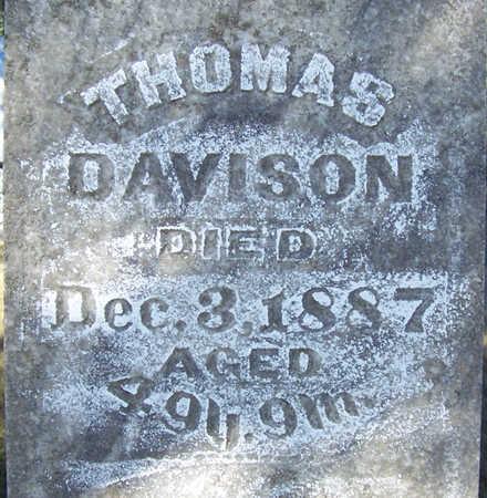 DAVISON, THOMAS (CLOSE-UP) - Shelby County, Iowa | THOMAS (CLOSE-UP) DAVISON