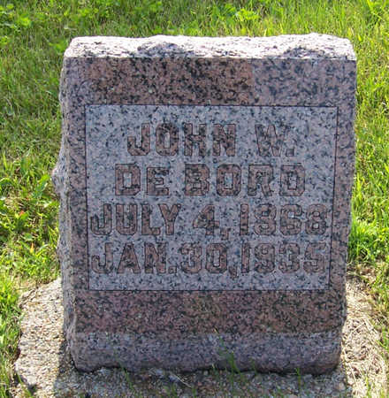 DEBORD, JOHN W. - Shelby County, Iowa | JOHN W. DEBORD