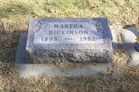DICKINSON, MARTHA - Shelby County, Iowa | MARTHA DICKINSON