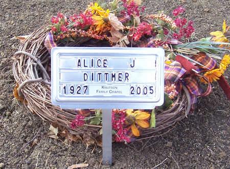 DITTMER, ALICE J. - Shelby County, Iowa | ALICE J. DITTMER