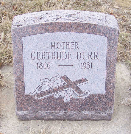 DURR, GERTRUDE (MOTHER) - Shelby County, Iowa | GERTRUDE (MOTHER) DURR