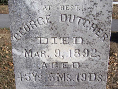 DUTCHER, GEORGE (CLOSE-UP) - Shelby County, Iowa | GEORGE (CLOSE-UP) DUTCHER